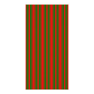 Christmas Red and Christmas Green Stripes Photo Cards