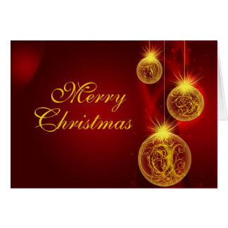 Christmas Red and Gold, Merry, Christmas Card