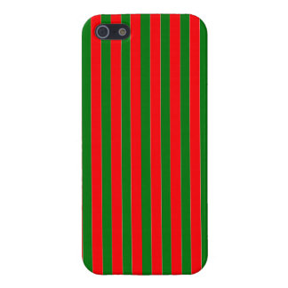 Christmas Red and Green Candy Cane Stripes iPhone 5 Cases