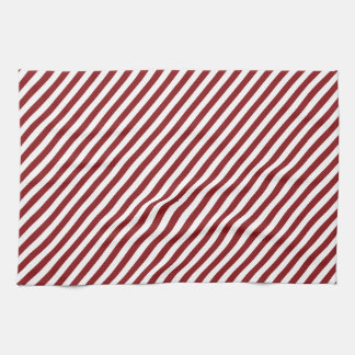 Christmas red and white diagonal stripes. tea towels