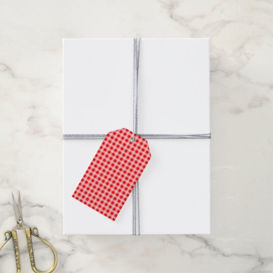 Christmas Red and White Gingham Check Pattern Gift