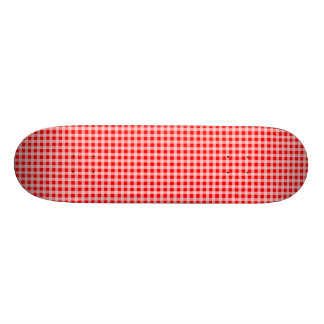 Christmas Red and White Gingham Check Pattern 19.7 Cm Skateboard Deck