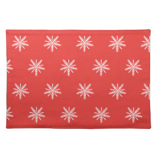 Christmas, red and white place mat