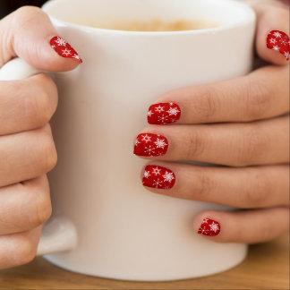 Christmas red and white snowflake design minx® nail wraps