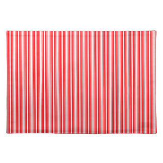Christmas Red and White Stripes Cloth Placemat