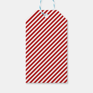Christmas Red and White Stripped Gift Tags