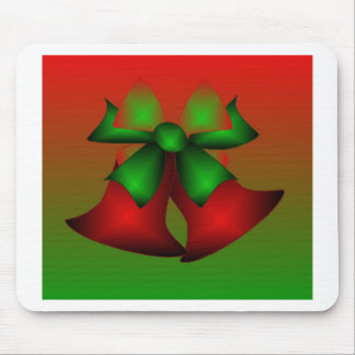 Christmas Red Bells Mouse Pads