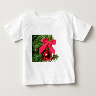 Christmas red bow and ornament shirts