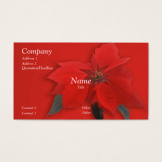 Christmas Red Business Card