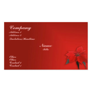 Christmas Red Business Card Templates