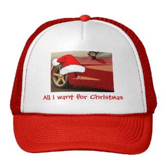 Christmas Red Corvette Trucker Hat