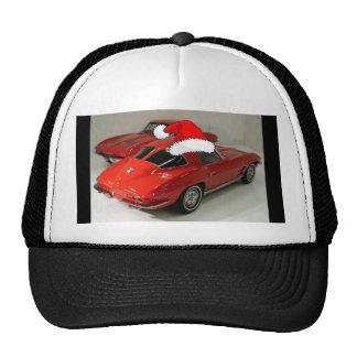 Christmas Red Corvette Classic Split Window Trucker Hat