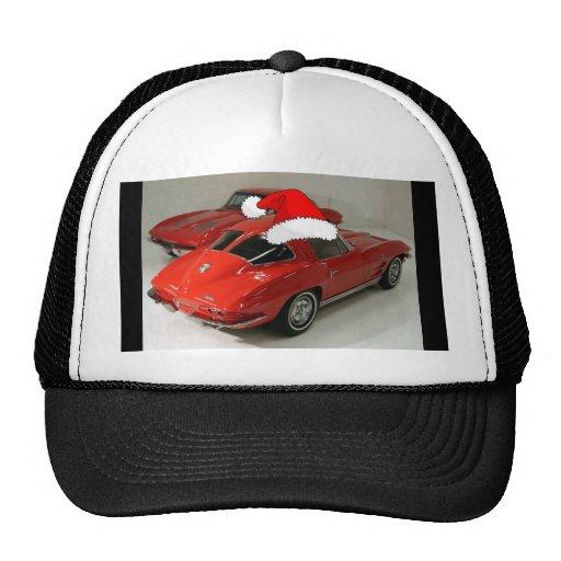 Christmas Red Corvette Classic Split Window Hats