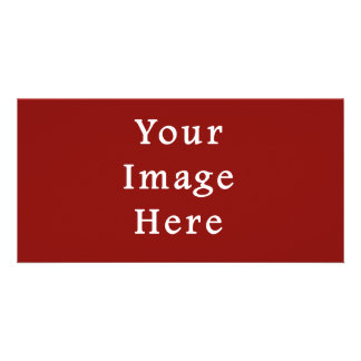 Christmas Red Crimson Color Trend Blank Template Photo Card