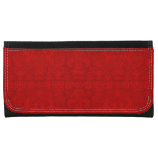 Christmas-Red-Damask-Wallet's-Multi-Styles Leather Wallet For Women