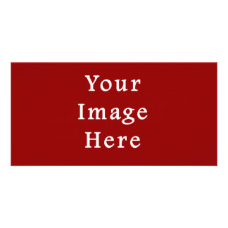 Christmas Red Deep Burgundy Color Trend Template Photo Card Template