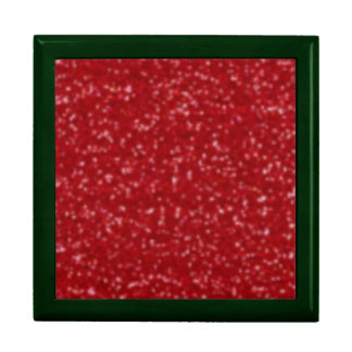 CHRISTMAS RED (faux) GLITTER GIFT BOX