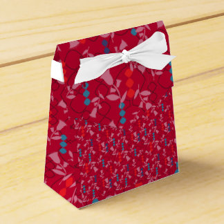 Christmas red favour box