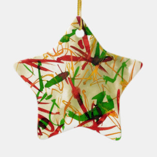 Christmas Red Green Star Ornamet Christmas Ornament