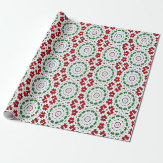Christmas Red Green Stars Wrapping Paper
