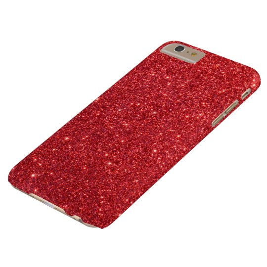 Christmas Red Holly Glitter Barely There iPhone 6