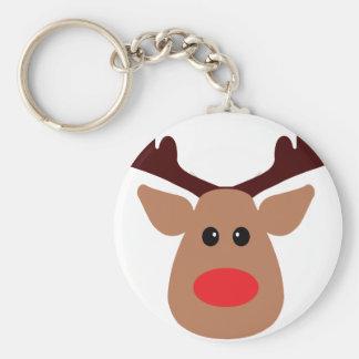 Christmas Red Nosed Reindeer Key Ring