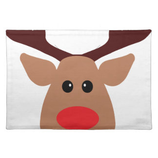 Christmas Red Nosed Reindeer Placemat