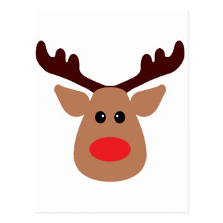 Christmas Red Nosed Reindeer Postcard
