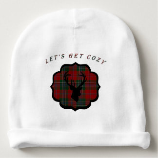Christmas Red Plaid Baby Beanie