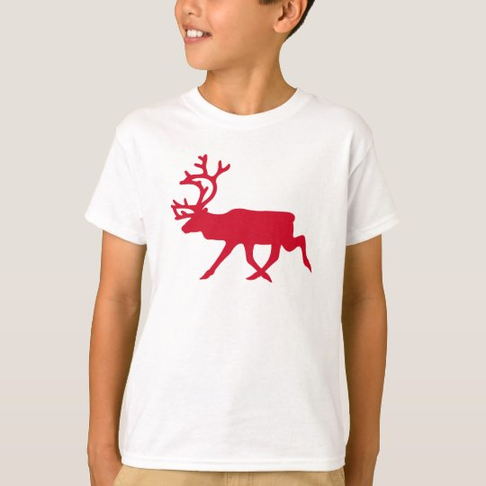 Christmas Red Reindeer T-Shirt