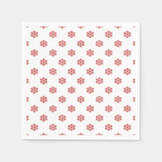Christmas Red Snow Flake Paper Napkins
