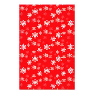 Christmas Red Snow Flurries Flyer
