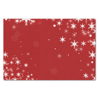 Christmas Red Snowflake Tissue Paper