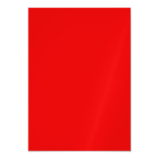 Christmas Red Solid Color Magnetic Invitations
