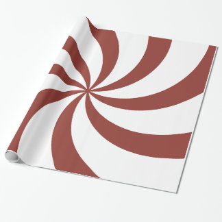 Christmas red swirls wrapping paper