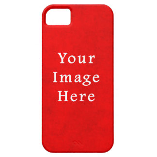 Christmas Red Textured Parchment Color Template iPhone 5 Cover
