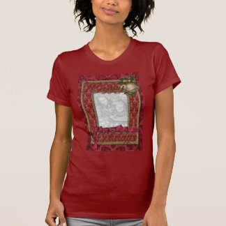Christmas - Red Victorian Gold Bells - ADD PHOTO T Shirt