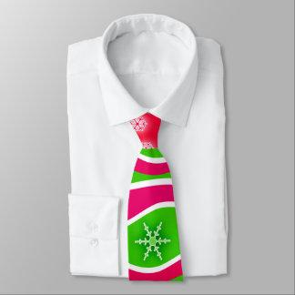 CHRISTMAS RED, WHITE & GREEN STRIPES TIE
