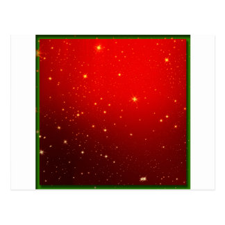 Christmas Red White Star Decotation Post Card