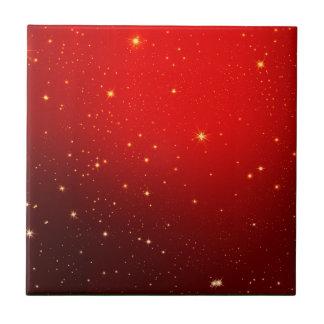 Christmas Red White Star Decotation Tile