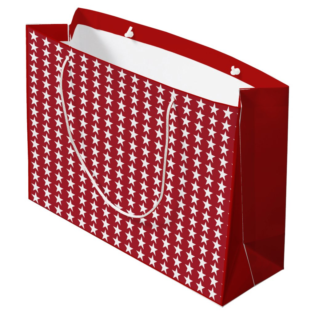 christmas Red & white Star Large Gift Bag