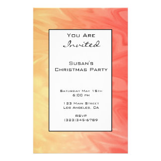 Christmas Red Yellow Texture 14 Cm X 21.5 Cm Flyer