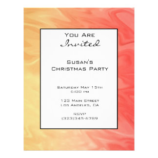 Christmas Red Yellow Texture Flyers