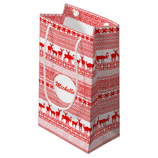 CHRISTMAS REIN DEER LAPLAND PATTERN S Gift Bag