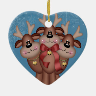 Christmas Reindeer (2 sided) Christmas Ornament