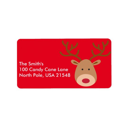 Christmas Reindeer Address Labels Personalise