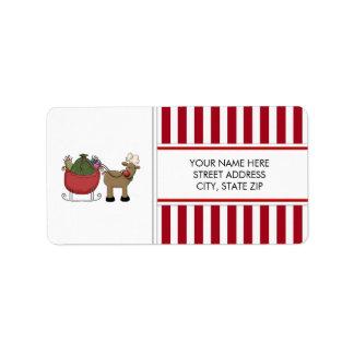 Christmas Reindeer Address Mailing Labels
