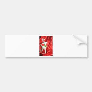 Christmas reindeer bumper sticker