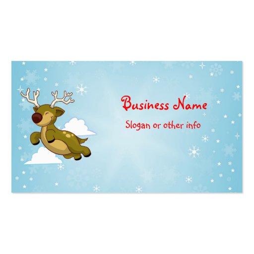 Christmas Reindeer Business Card Template