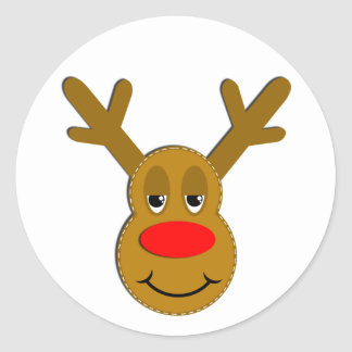 Rudolph The Red Nosed Reindeer Stickers | Zazzle.co.uk